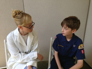 Therapist (J. J. Pyle) with Young Peter (Sammy Bravo)