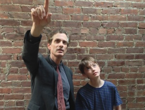 Peter Reich (Scott Klavan) with his son Will (Sammy Bravo)