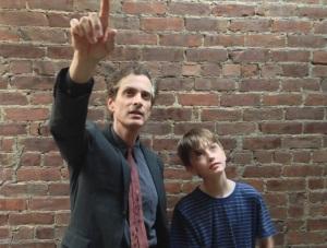 Peter Reich (Scott Klavan) with his son Will (Sammy Bravo)